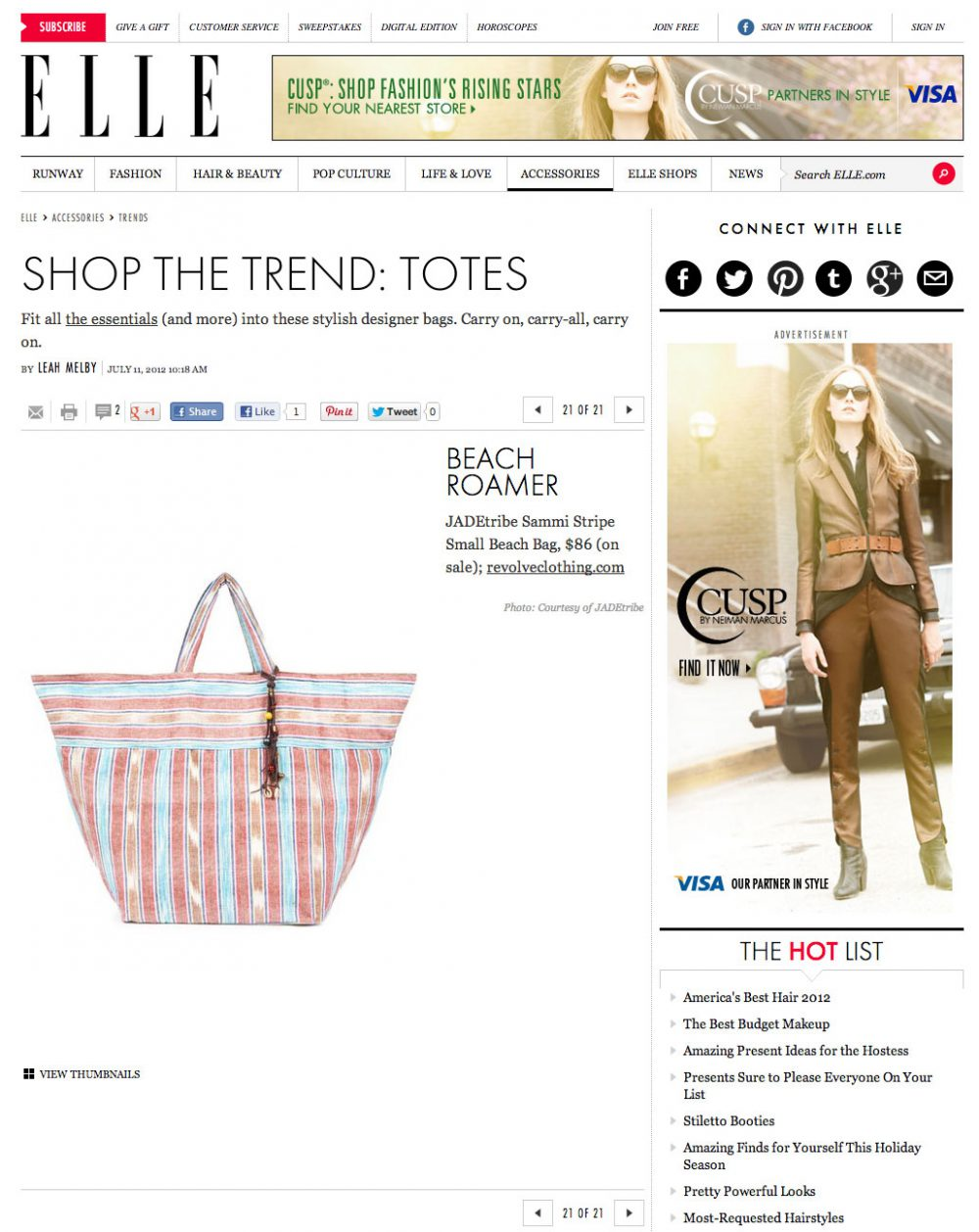 Elle tote bag trends
