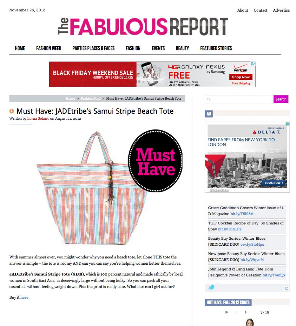 The Fabulous Report - Online Press