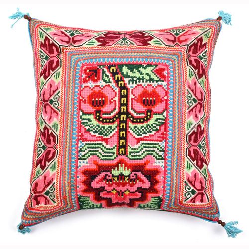 Elizabeth Pillow Blue Jadetribe Jade Tribe Jadetribe